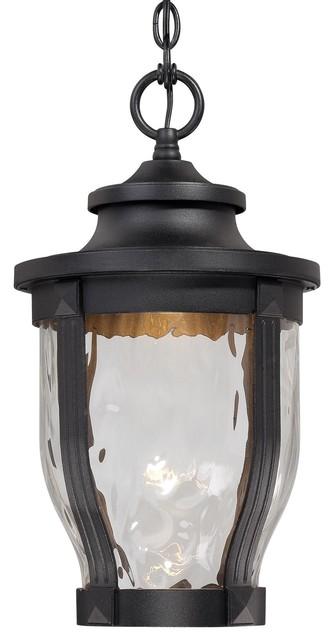 Traditional Outdoor Pendant Lighting : Minka lavery outdoor led l merrimack black light