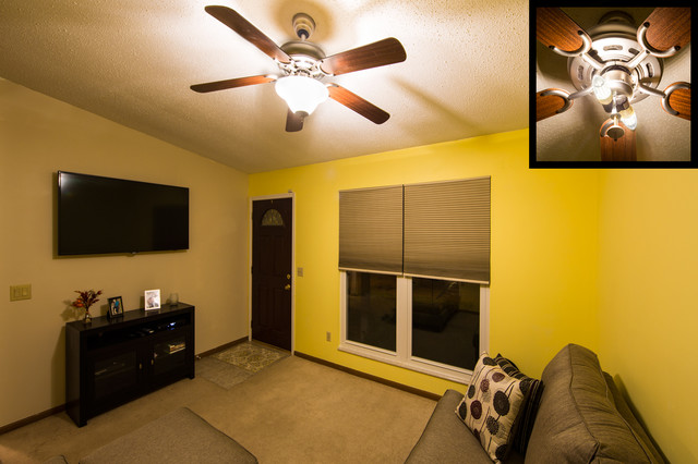 LED Lighting In Ceiling Fan Traditional Living Room St Louis By Super