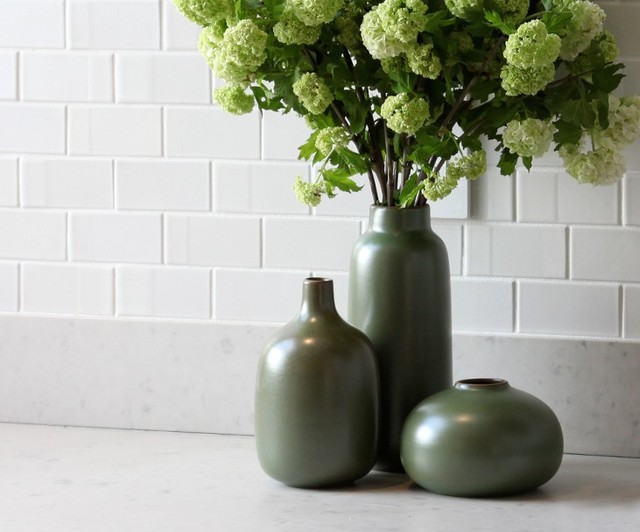 Heath Ceramics Vases In Verde Modern Vases Vancouver