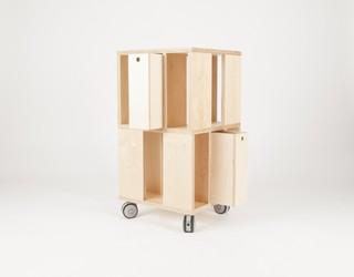 armoire de rangement building 2m contemporain armoire et caisson de rangement par malherbe. Black Bedroom Furniture Sets. Home Design Ideas