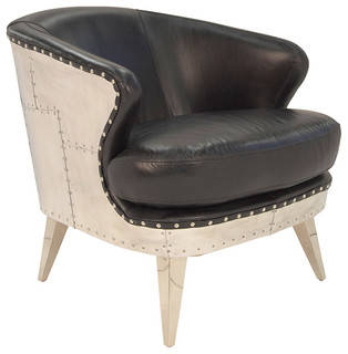Uxbridge Armchair In Vintage Black Eclectic Armchairs And Accent Chairs