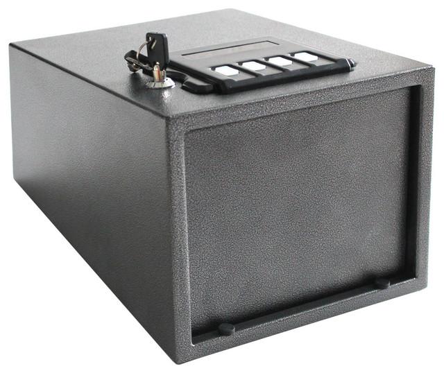 Caesar Gun Safe w/ Pop-Open Door - Solid Steel Construction & Hidden Wall/Floor - Modern - Safes ...
