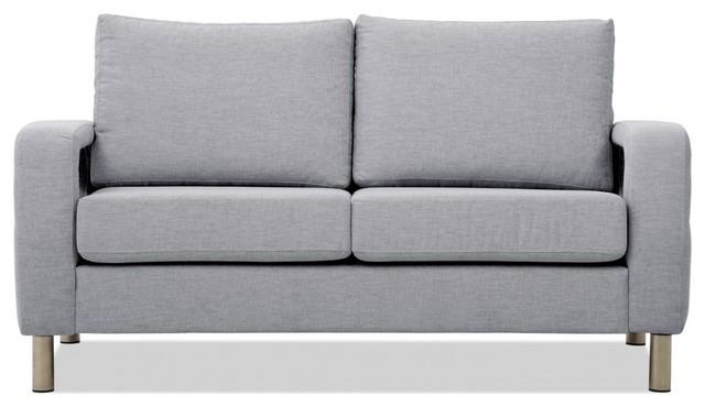 2 sitzer sofa omnia 222 i hellgrau modern sofas by fashion4home gmbh. Black Bedroom Furniture Sets. Home Design Ideas
