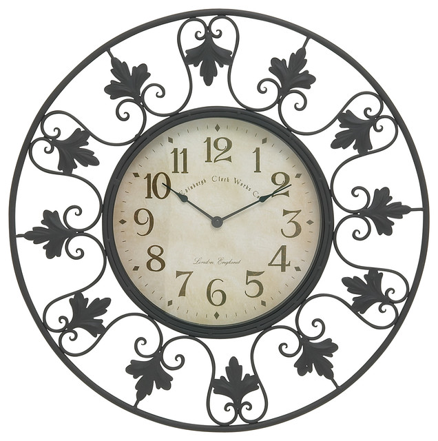 metal outdoor wall clock modern outdoor clocks by