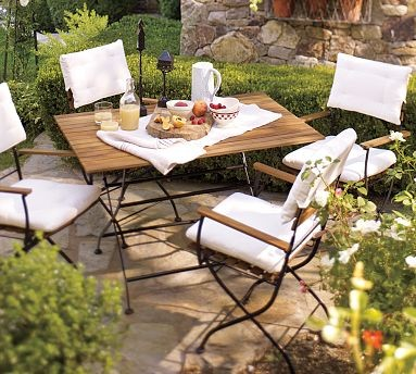 Surry Bistro Dining Table Set Outdoor Pub And Bistro Sets By Pottery Barn