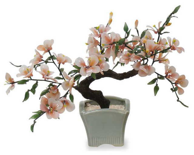 Glass Bon Zai Tree - Asian - Artificial Flowers Plants And Trees - by ...