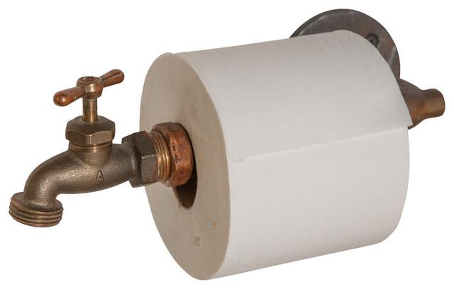 industrial faucet toilet paper holder industriel d rouleur papier toilette par nine twenty. Black Bedroom Furniture Sets. Home Design Ideas