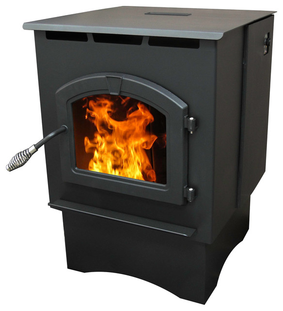 Medium Pellet Burning Stove With Led Comfort Control System Traditional Outdoor Fireplaces