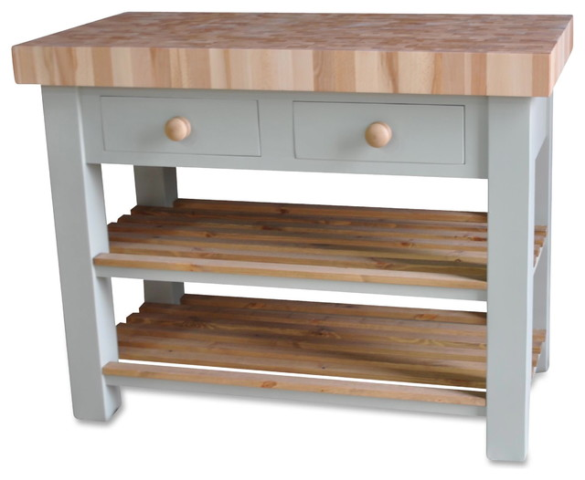 butchers block island 120cm by 60cm country kitchen