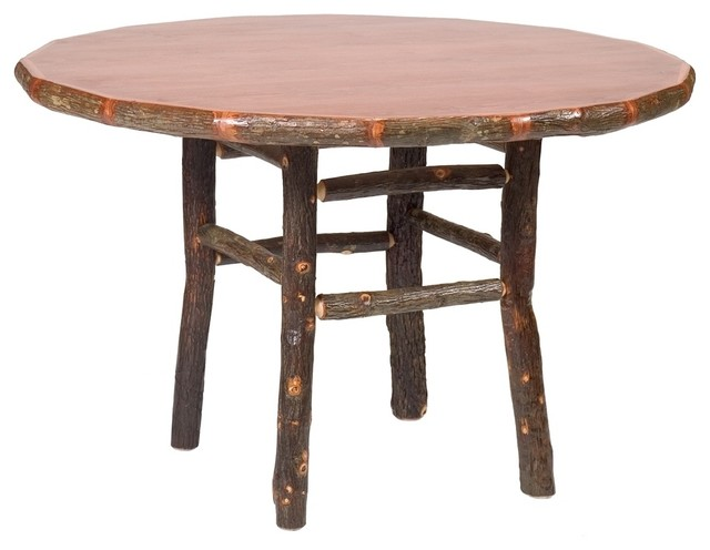 Hickory Round Log Dining Table 48 in Dia Rustic Alder  : dining tables from www.houzz.com.au size 640 x 496 jpeg 42kB