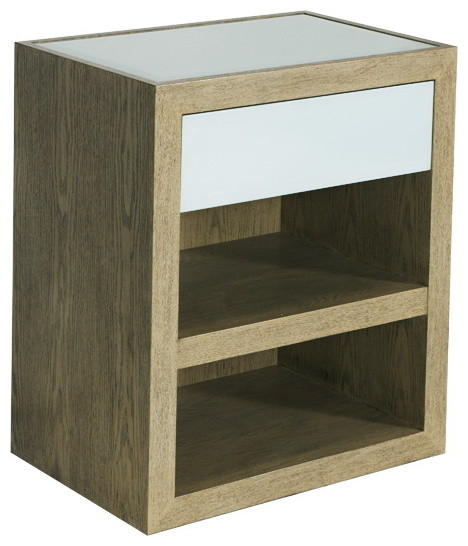 Worlds Away Limed Oak Veneer Cabinet With Ice Glass Top ...