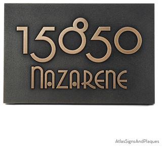 grado gradoo address plaque 17 x 12 in bronze patina. Black Bedroom Furniture Sets. Home Design Ideas