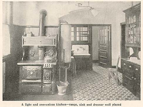 Building materials for 1878 kitchen for Interior design styles 20th century