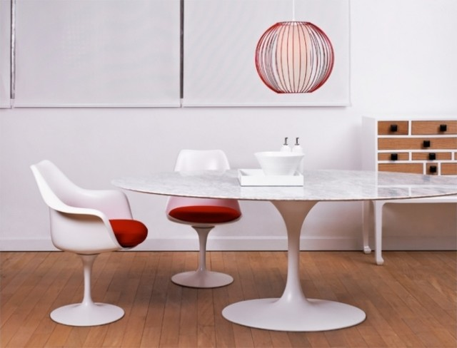 Eero Saarinen Oval Tulip Table Cararra Marble by Rove  : midcentury dining room from www.houzz.com size 640 x 488 jpeg 45kB
