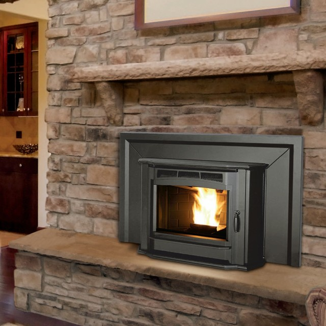 Enviro 30 39 39 x 25 39 39 milan series pellet fireplace insert for Contemporary fireplace insert