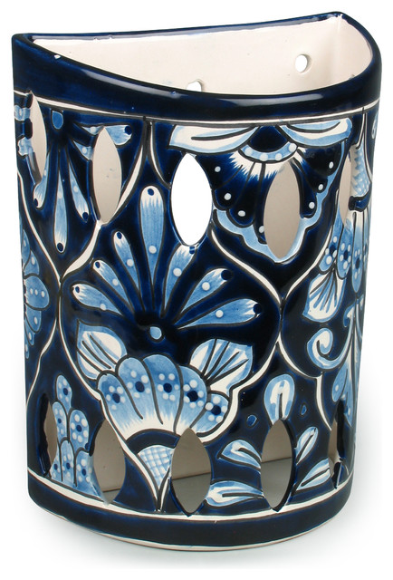 large blue wite talavera wall sconce montagne applique murale phoenix par direct from. Black Bedroom Furniture Sets. Home Design Ideas