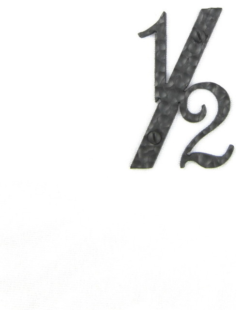 Rustic spanish style hammered wrought iron address numbers for Mediterranean house numbers