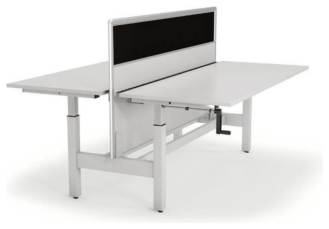 Home Workstations 4 Person 90 Degree Workstation Evolution Pictures to