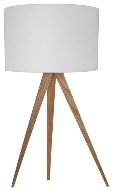 lampe poser tripod wood mini couleur blanc scandinave. Black Bedroom Furniture Sets. Home Design Ideas