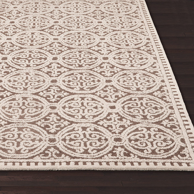Mandala Tufted Area Rug Traditional Area Rugs By