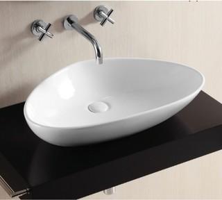 Unique Round Above Counter Vessel Ceramic Sink