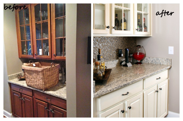 Blue And White Painted Kitchen Cabinets Traditional Nashville By Bella