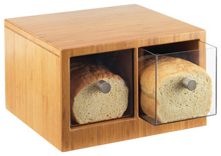 Bamboo Bread Bin - Contemporary - Bread Boxes - by Limitless Supply Store