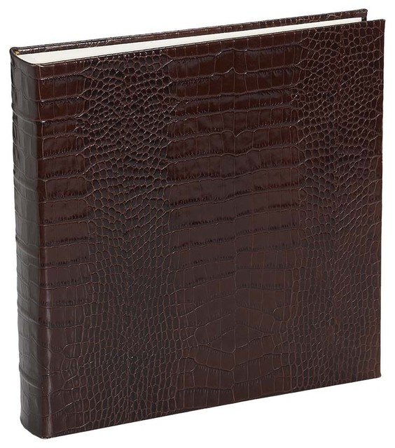 large bound album crocodile embossed leather classique. Black Bedroom Furniture Sets. Home Design Ideas