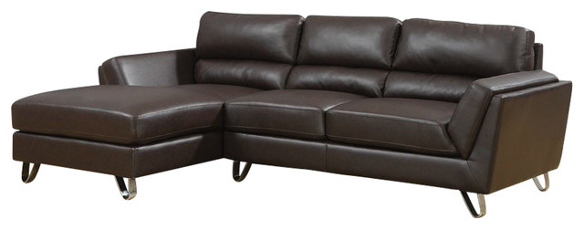 Monarch specialties sofa sofa lounger black bonded for Bonded leather chaise lounge