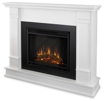 Real Flame Silverton Electric Fireplace White G8600e W Indoor Fireplaces Other By