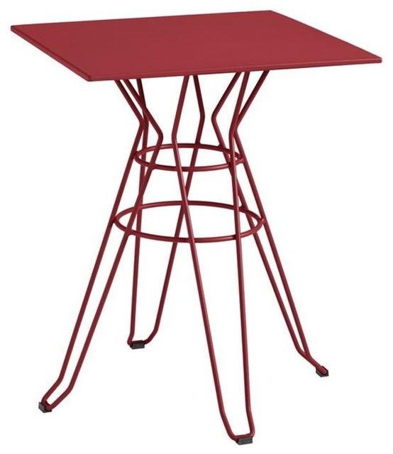 Table de jardin design carr e 60x60 alameda couleur for Table exterieur 60x60