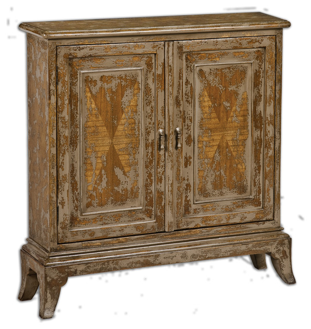 maguire distressed console cabinet traditional