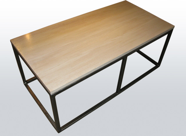 Coffee table with pickled red oak top contemporary for Red modern coffee table