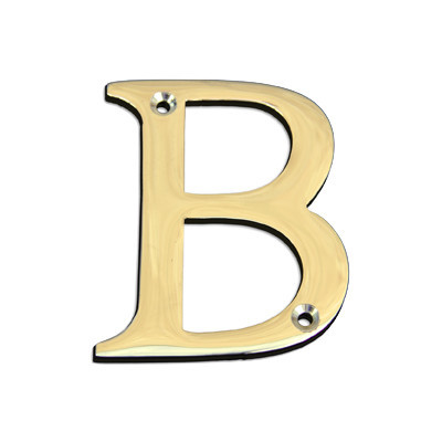 3 Brass Alphabet A Polished Brass Letter B Traditional House Numbers By Rch Supply Co