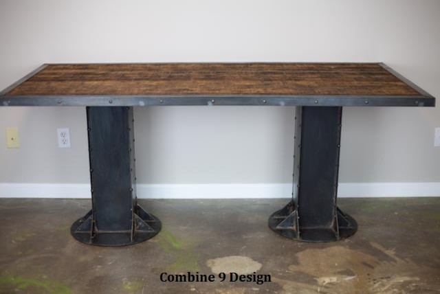 Electric Sit Stand Desk. Vintage Industrial/Mid Century