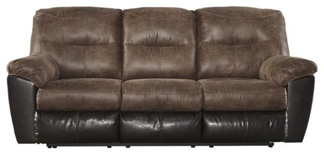 Ashley Follett Reclining Faux Leather Sofa Coffee sofas