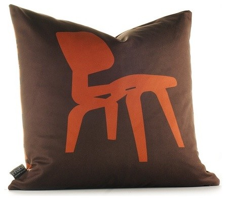 Modern Classics Pillow in Rust and Chocolate - Modern - Scatter Cushions