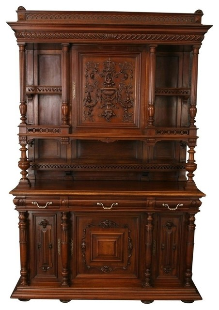 ... Buffet Cabinet Sideboard, Walnut traditional-buffets-and-sideboards