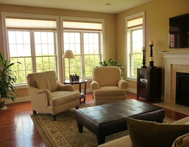 Windham Pottery Barn Style Living Room traditional-living-room