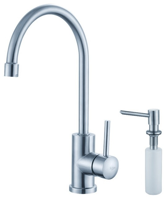 Kraus Plumbing Fixtures : ... Faucet and Soap Dispenser - Modern - Kitchen Faucets - by DirectSinks