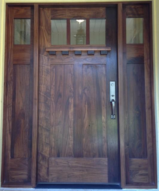 Black Walnut Craftsman Entry Craftsman Other Metro By Pedernales Door Window
