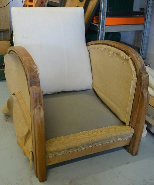 R fection d 39 un canap et de ses deux fauteuils for Canape et deux fauteuils