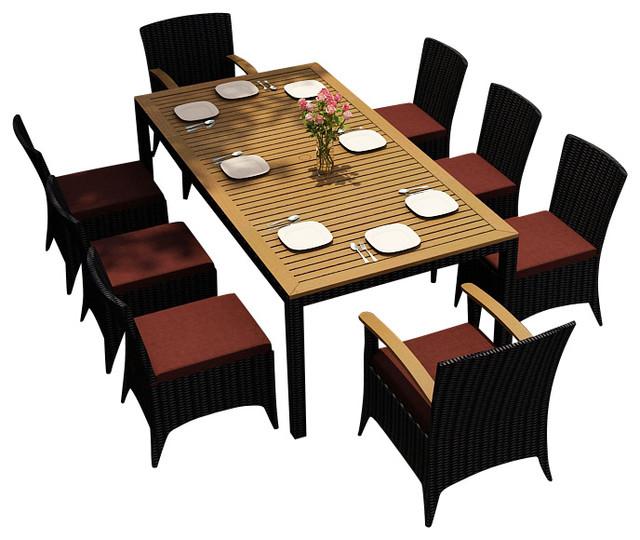 patio dining set henna cushions modern patio furniture and outdoor