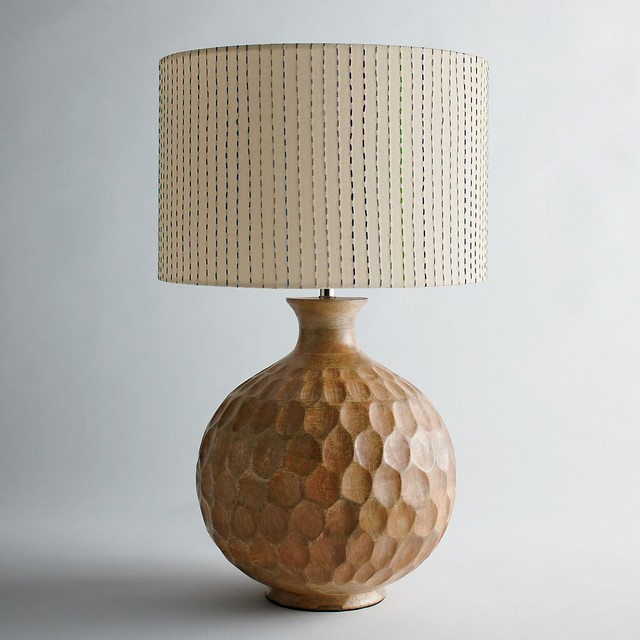 Mango Wood Lamp Base, Natural - Traditional - Lamp Bases - by The Company Store