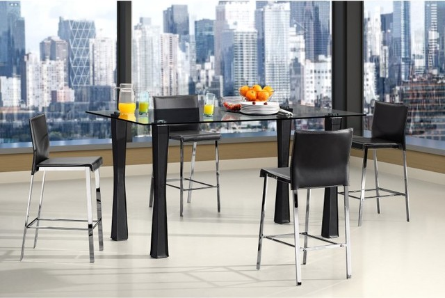 Counter Height Modern Dining Table : ... Counter Height Glass Dining Table - 107811 contemporary-dining-tables