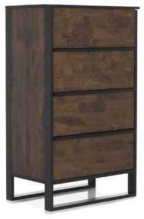 spirit chiffonnier 4 tiroirs industriel commode et. Black Bedroom Furniture Sets. Home Design Ideas