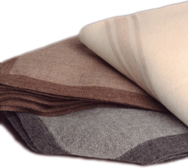 drama alpaca throw blanket dark grey light taupe traditional throws by belle and june. Black Bedroom Furniture Sets. Home Design Ideas