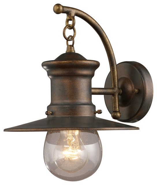 Wall Sconces Light Up And Down : Elk Lighting 42006/1 Maritime Outdoor Wall Light - Traditional - Outdoor Wall Lights And Sconces ...