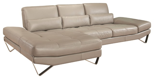 833 Italian Leather Sectional By Nicoletti Contemporary