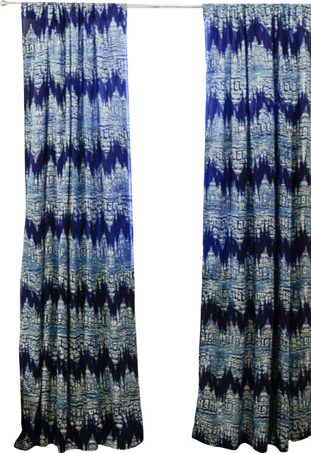 Reflection Ikat Window Curtain - Eclectic - Curtains - by ...